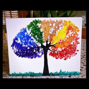 Rainbow Tree Art For Kid's Bedroom 8X10